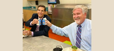 Lunch with New Mexico Education Secretary-Designate Kurt Steinhaus at Lowell Elementary School (Photo courtesy of NMPED)
