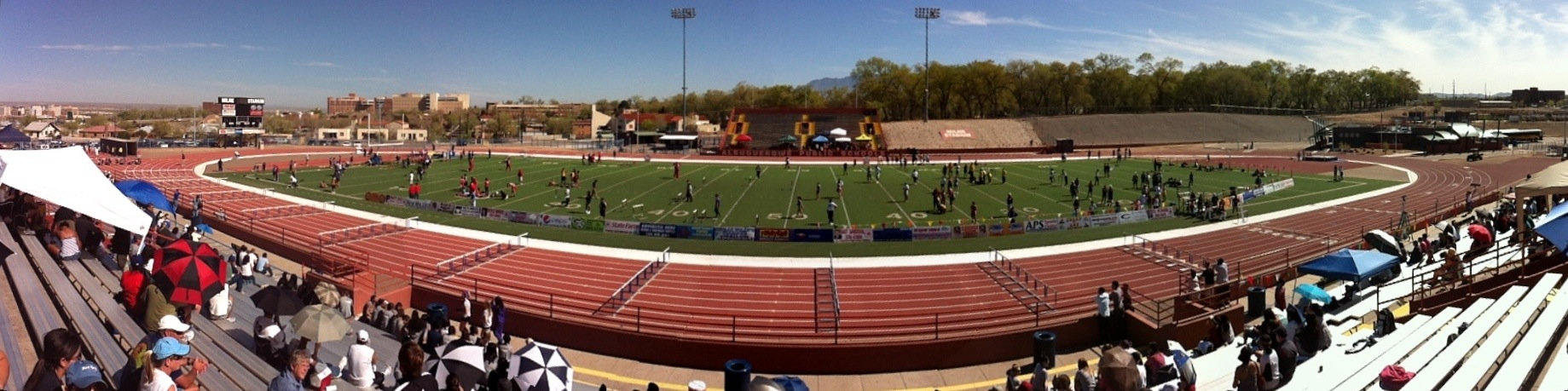 Panoramic view of Milne Stadium