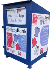 APS Community Clothing Bank Donation Box