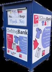 APS Community Clothing Bank Donation Box