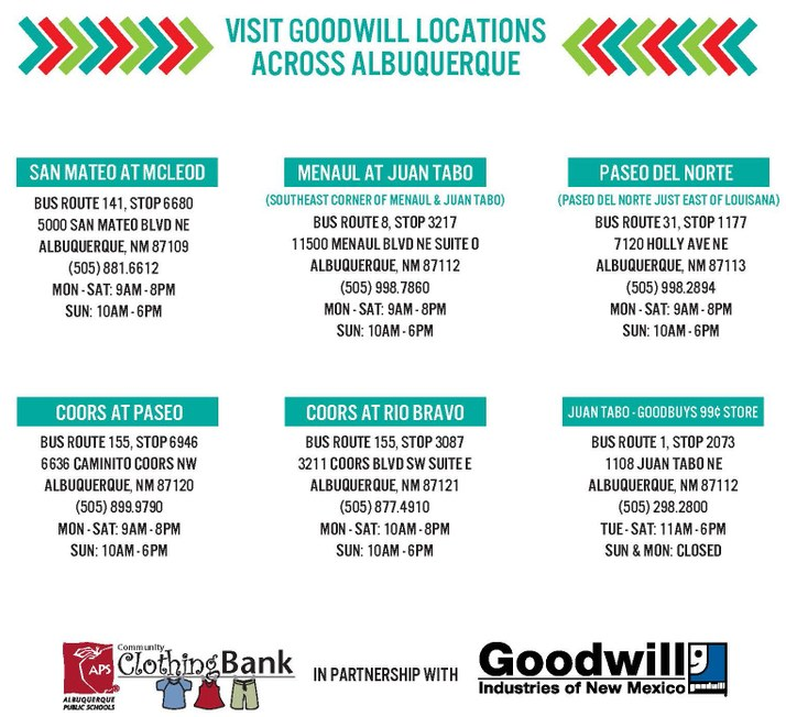Aps Clothing Bank Goodwill Join To Help Students In Need