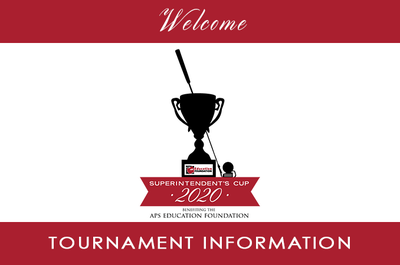 Superintendent's Cup 2020 Welcome Banner