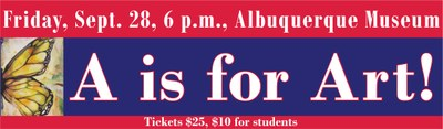 A is for Art! banner 8-23