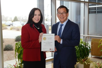 Janice Torrez, Vice President External Affairs & Chief of Staff and Dr. Eugene Sun, Vice President & Chief Medical Officer of Blue Cross and Blue Shield of New Mexico
