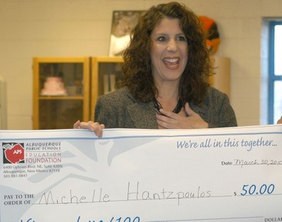 Michele Hantzopoulos honored as Teacher of the Month
