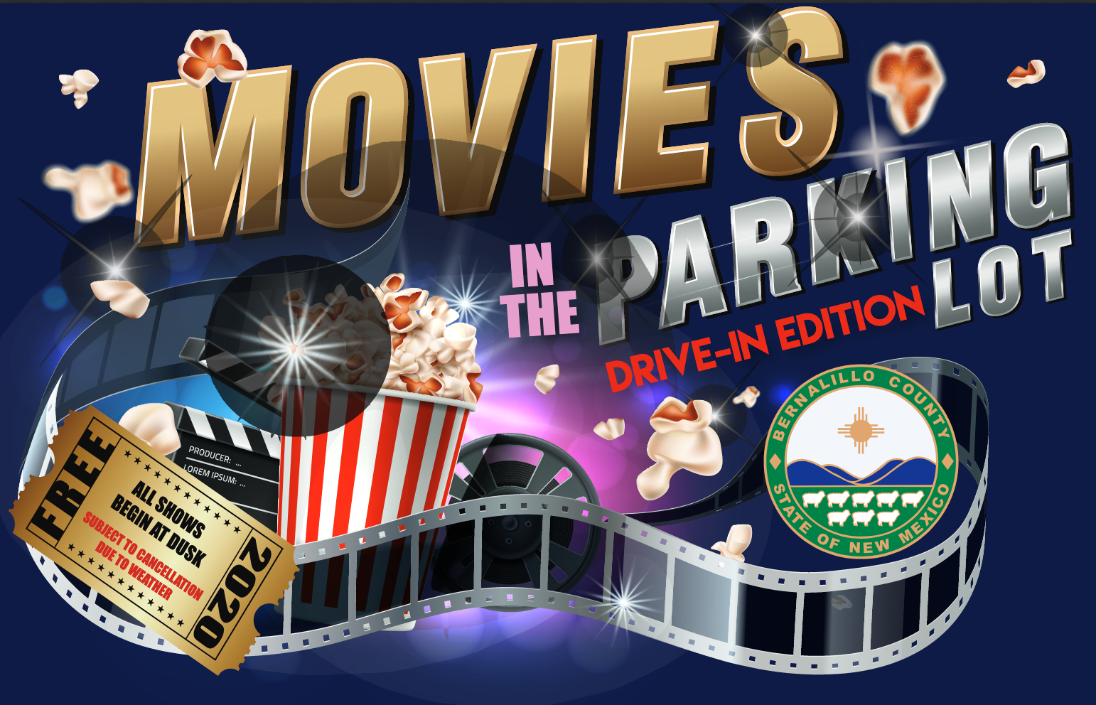 Census Night at Movies in the Park Drive-In