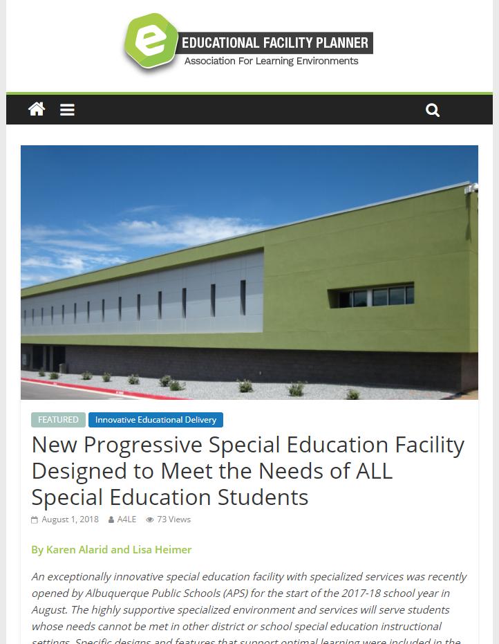 New Progressive Special Education Facility... Article