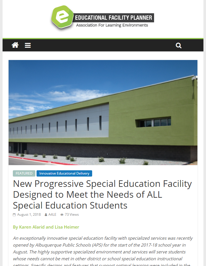 Educational Facility Planner Article