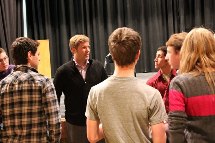 Senator Keller talks to kids