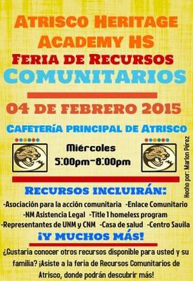 AHA Community Resource Fair Spanish