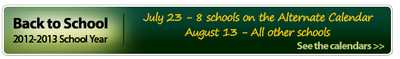 Back to School for the 2012-2013 School Year