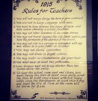 1915 Rules for Teachers