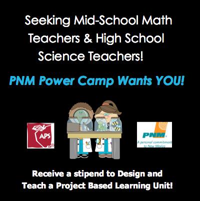 APS Seeking Teacher for PNM Power Camp