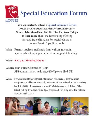 Special Education Forum