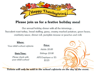 Happy Thanksgiving Flyer, 2014