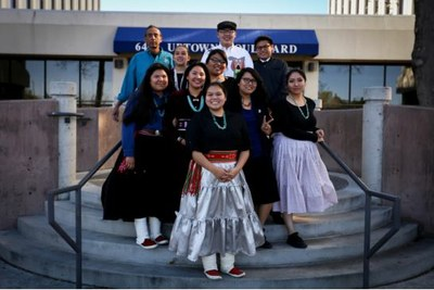 Native American Students at Tribal Leaders Summit