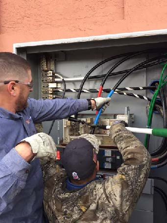 Installation of new electrical cabling