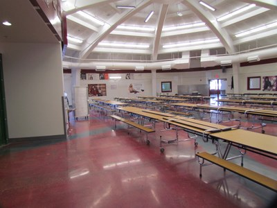 Upgrades at Hoover Middle School include a renovated cafeteria and kitchen.