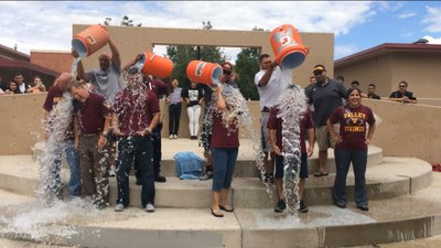 Valley HS accepted the Ice Bucket Challenge from AHA