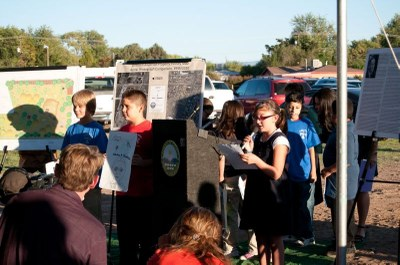 Adobe Acres Students at Open Space Groundbreaking
