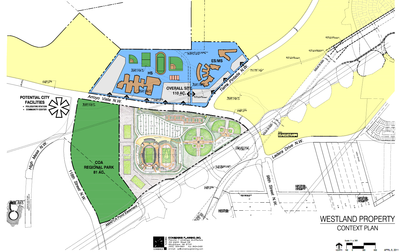 Proposed site of the West Side Stadium