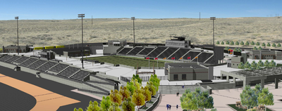 Rendering of the potential west side stadium