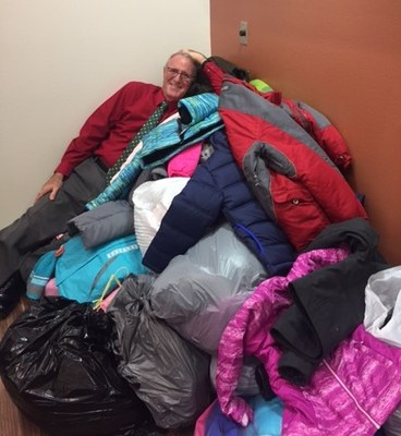 Steve William collects coats for KOATS for Kids