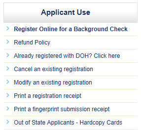 Applicant Use