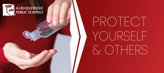 Sanitize. Protect yourself and others.