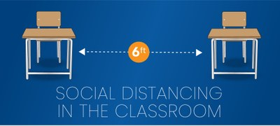 Social distancing in the classroom.