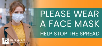 Please wear a face mask. Help stop the spread.