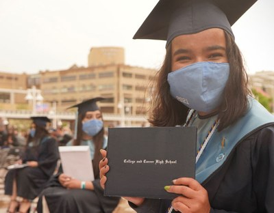 College and Career HS Graduate Wearing a Mask