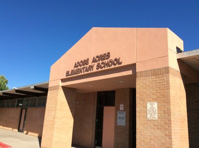 Adobe Acres ES Front Entrance