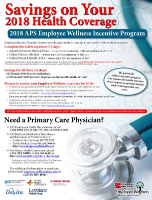2018 Wellness Incentive Flyer