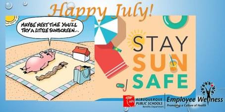 fun graphic on sun safety