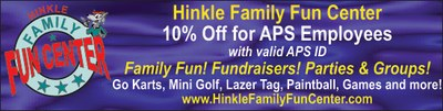 Hinkle Family Fun Center Ad