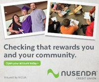 Nusenda checking that rewards you and your community. Open your account today.