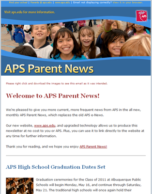 Click to subscribe to the APS Parent News email newsletter