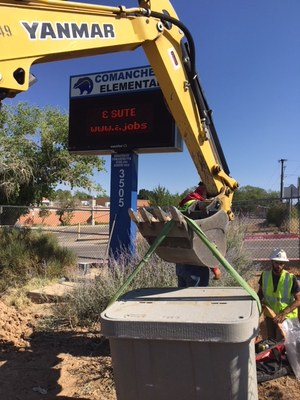 Construction for fiber project - Comanche Elementary School