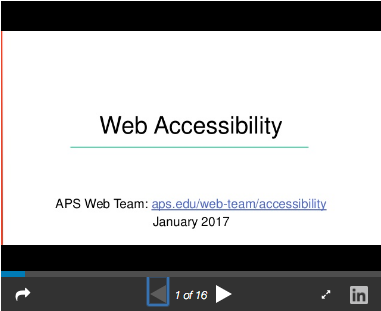 Web Accessibility Presentation Thumbnail