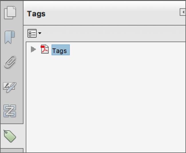 Adobe Tag Pane