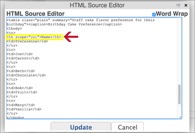 Plone Add TH to Table HTML