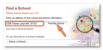 New site features - address search