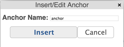 Anchor title
