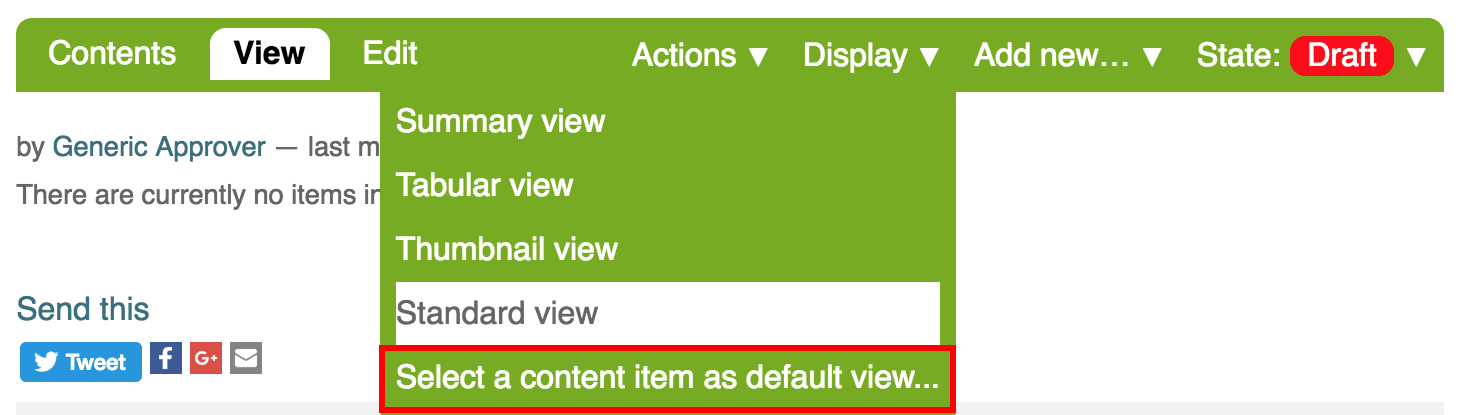 Folder View Options
