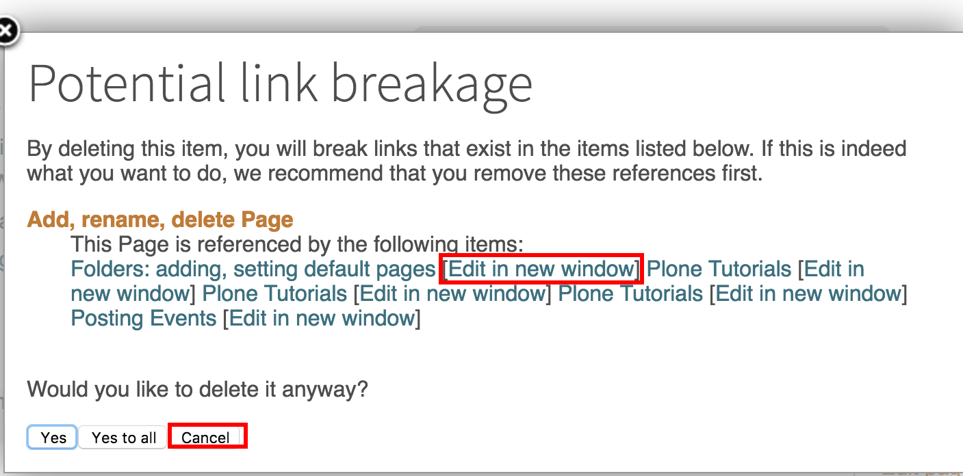 Link Breakage