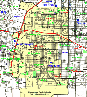 District 4 Map — Albuquerque Public Schools