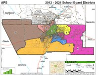 2012-2021 Board Districts map