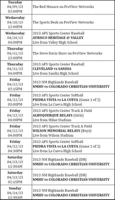 ProView-Schedule-April-9-14-2013
