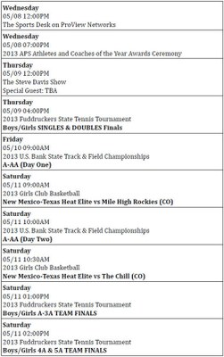 ProView Schedule May 7-11-2013